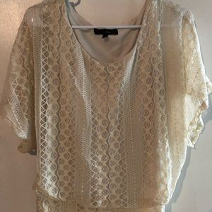 Tops - 3 for $12! Lacey bat wing blouse, size small.